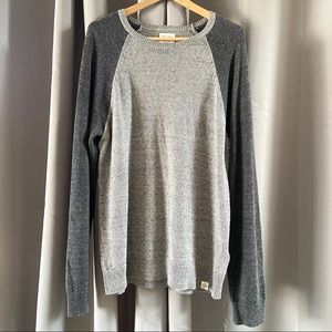 Lucky Brand Two Tone Grey Sweater L